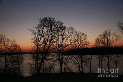 Photograph - Sunrise Silhoutte On Spirit Lake by Amelia Painter