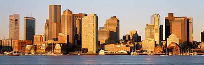 Boston Ma Photograph - Sunrise, Skyline, Boston by Panoramic Images