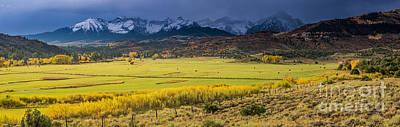 Ralph Lauren Photograph - Sunrise Sneffels Range Ranch - Colorado by Gary Whitton