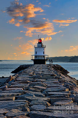 Sunrise Spring Point Ledge Art Print by Jerry Fornarotto