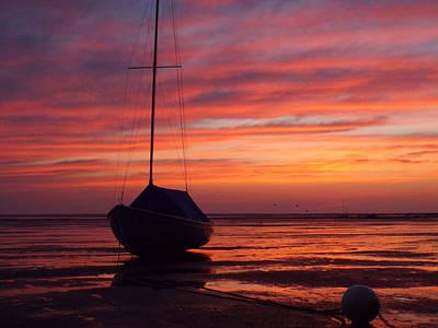 Sunrise Stranding At Low Tide Art Print