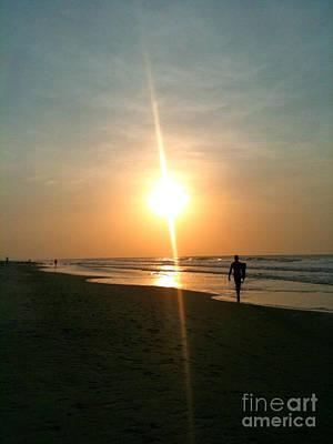 Photograph - Sunrise Surfer by M West