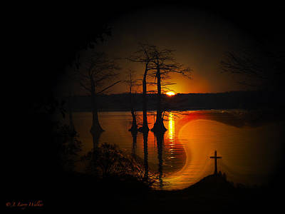 Digital Art - Sunrise Suspense by J Larry Walker