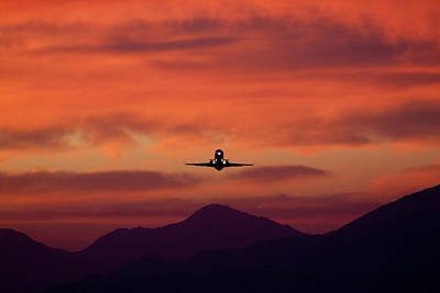 Sunrise Takeoff Art Print by John Daly