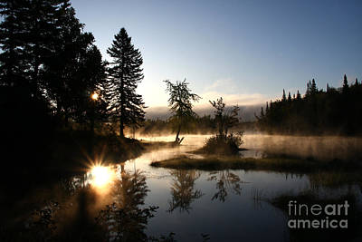 Photograph - Sunrise-the Magalloway River by Butch Lombardi