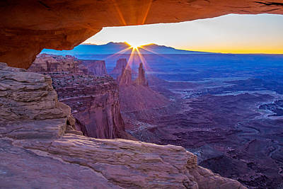 Sunrise Through Mesa Arch Art Print