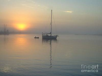 Sunrise Through The Fog Art Print by Bob Sample