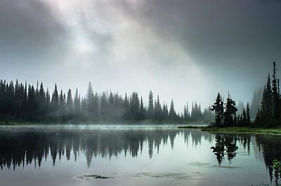 Sunrise Through The Mist Art Print by Brian Xavier
