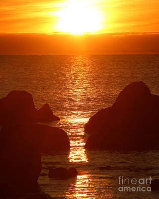 Photograph - Sunrise Through The Rocks by Deborah Smith