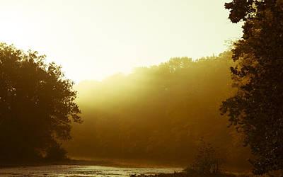 Art Print featuring the photograph Sunrise Thru The Fog by Phil Abrams