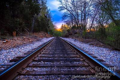 Sunrise Tracks Art Print