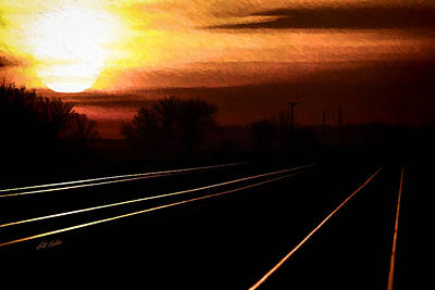 Photograph - Sunrise Triple Track by Bill Kesler