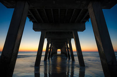 Photograph - Sunrise Under The Tybee Island Pier by Anthony Doudt