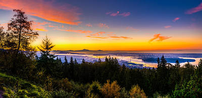 Vancouver Photograph - Sunrise Vancouver by Ian Stotesbury