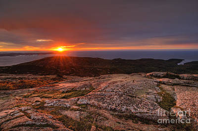 Fall Photograph - Sunrise View From Cadillac Mountain by Oscar Gutierrez