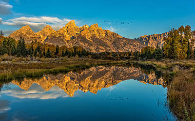 Sunrise Vision At The Grand Tetons Art Print