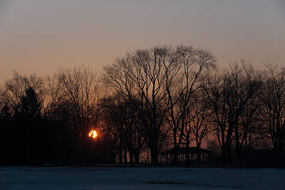 Train Photography - Sunrise Walk Through the Park by Georgia Mizuleva