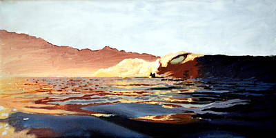 Painting - Sunrise Wave by Nathan Ledyard
