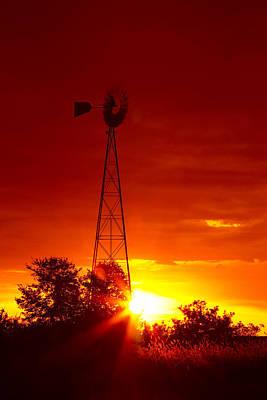 Kitchen Collection - Sunrise Windmill 1 A by John Brueske