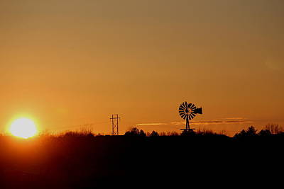 Photograph - Sunrise Windmill by Trent Mallett