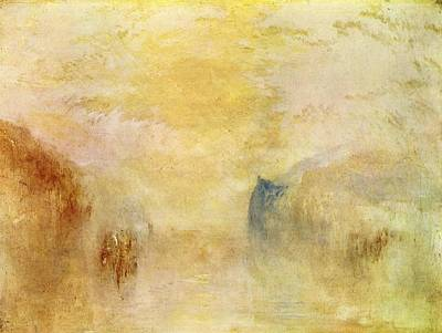 Mallord Turner Painting - Sunrise With A Boat Between Headlands 1840s by J M W Turner