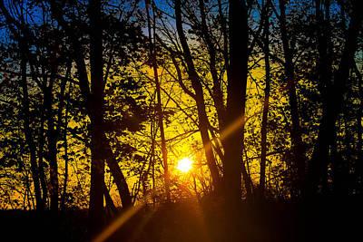 Sunrise With Blue - Horizontal Art Print