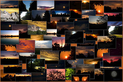 Sunrises And Sunsets Collage Rectangle Art Print by Thomas Woolworth