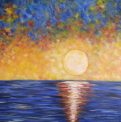 Abstract Realism Painting - Sunrise...sunset by Molly Roberts