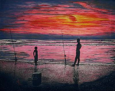 Sunrise.us. Art Print by Viktor Lazarev