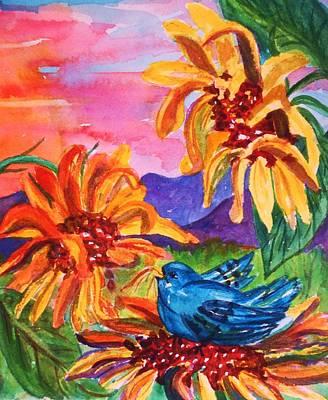 Painting - Suns Last Rays II by Ellen Levinson