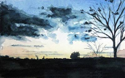 Painting - Sun's Silhouette by Erin Rickelton