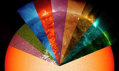 Astrophysical Photograph - Sun's Surface At Different Wavelengths by Nasa Goddard Space Flight Center