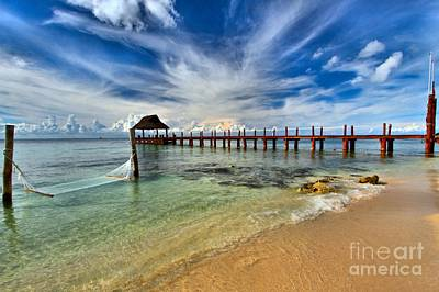 Photograph - Sunscape Sabor Pier by Adam Jewell