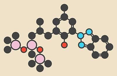 Sunscreen Molecule Art Print by Molekuul