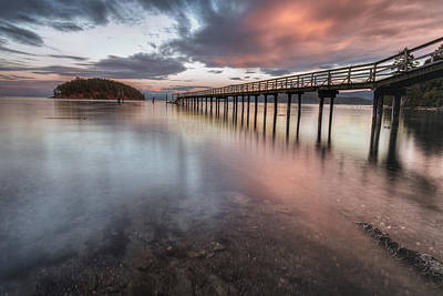 Art Print featuring the photograph Sunset - Mayne Island by Jacqui Boonstra