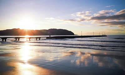 Photograph - Sunset & Pier by Torne uttenai