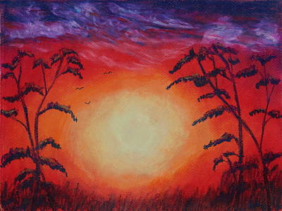 Painting - Sunset 1 by Jeanne Fischer