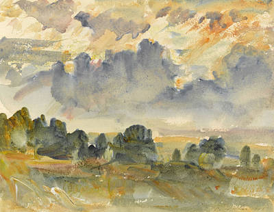 Sunset Drawing - Sunset, 1915 by Philip Wilson Steer