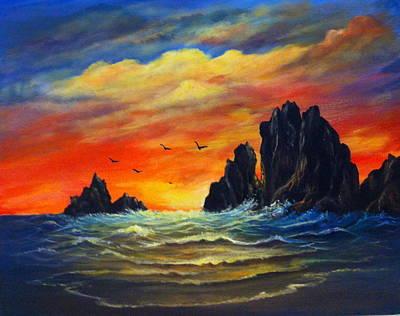 Painting - Sunset 2 by Bozena Zajaczkowska