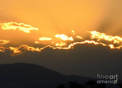 Art Print featuring the photograph Sunset 3 by Ze  Di