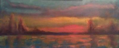 Painting - Sunset 2012 by Piotr Wolodkowicz