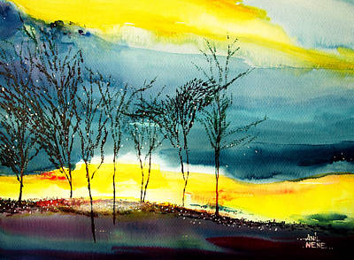 Sunset 3 Print by Anil Nene