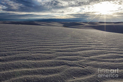 Sunset 3 - White Sands Art Print by Scotts Scapes