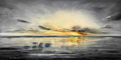 Painting - Sunset 384 Panoramic by Gina De Gorna