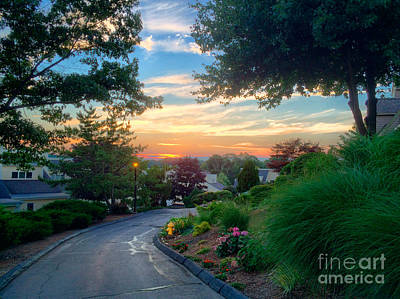 Photograph - Sunset At Patti's House by Edward Sobuta