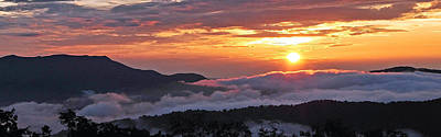 Photograph - Sunset Above Clouds by Alan Lenk