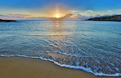 Photograph - Sunset Above Kawakiu Nui Beach by Richard A Cooke Iii.