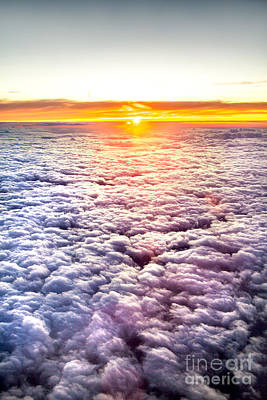 Sunset Above The Clouds Print by Az Jackson