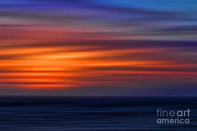 Sunset Abstract Art Print by Clare VanderVeen
