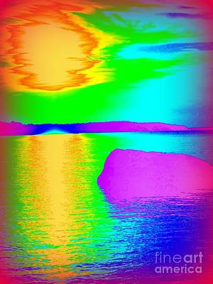 Photograph - Sunset Abstract by Ed Weidman